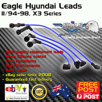 Eagle 8mm Ignition Spark Plug Leads 4cyl Fits Hyundai Excel S 94-98 X3