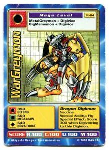 St-84 WarGreymon Digimon Swedish Promo Card TCG Rare Digi-Battle Bandai HP