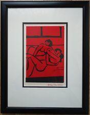 3 weibliche Akte, Erotik Siebdruck 2004 von Dora Schneuer