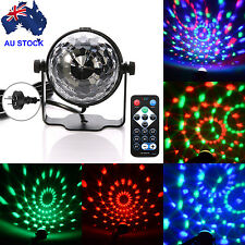 AU RGB LED Disco Home Party Crystal Magic Ball Stage Effect Light Lamp W/ Remote