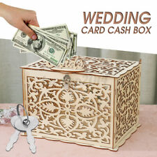 DIY Wedding Gift Card Box Wooden Money Box Lock Advice Box Wedding Decor Beige