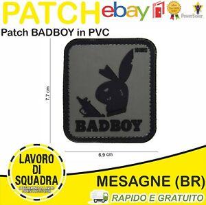 Patch Toppa PVC Badboy Bunny Gomma Softair Uniforme Militaria Urban Grey Army