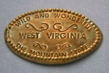 The Mountain State elongated penny WV USA cent Wild & Wonderful souvenir coin