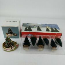 2 Liberty Falls Americana Collection Community Christmas Tree + 6 Tree Accessory