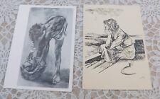 USSR Russian Postcard after Italian Painter Renato Guttuso 1962