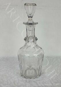 Carafe conique en cristal XXe