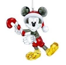 Swarovski, Mickey Mouse Christmas Ornament With Candy Cane,disney kerst ornament