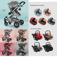 New Pram 3 in 1 Set for Kids Travel System Newborn Combi CarryCot Pushchair UK