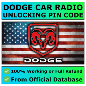 DODGE RADIO PIN CODE UNLOCK DECODE CHARGER CHALLENGER DURANGO CARAVAN JOURNEY ✅