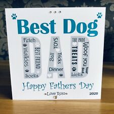 Handmade Personalised Father's Day Card Birthday Card Dog Dad From The Dog 🐾