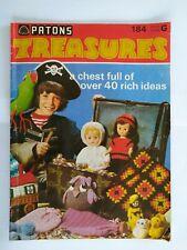 Vintage Patons Treasures - 1973 Knitting Patterns Booklet (40+)