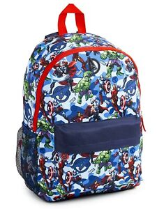 Marvel Large Backpack with Avengers Superheros for Boys Teenagers