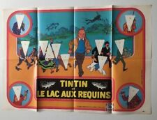 HERGE TINTIN POSTER LE LAC AUX REQUINS OLA CORNETTO VIERGE BELVISION DB