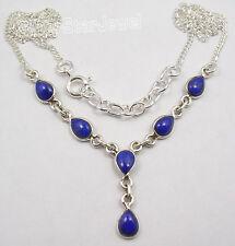 925 Silber ! Echt LAPISLAZULI Edelsteine Party Halskette ! wunderschön Geschenk