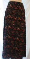 Women's Field Manor Black/Multi-Colored Skirt Size 10