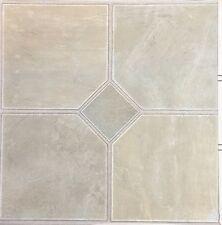 48 Effetto Marmo Diamond Adesivo Peel & Stick Pavimentazione Vinile Piastrelle Grigio Argento