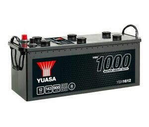 Battery boat, truck, discharge slow YUASA YBX1612 627SHD 12V 143Ah 900A