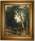 Durand A Creek in the Woods 1865 Framed Canvas Print Repro 16x20