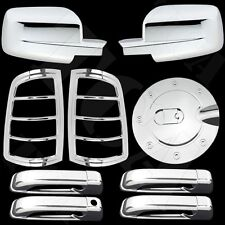 Chrome Covers Mirror 4 Door Handle Taillight Gas For Dodge Ram 2500 3500 10-15