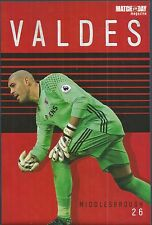 MOTD-POSTER 2016/17-MIDDLESBROUGH & SPAIN-MANCHESTER UNITED-VICTOR VALDES