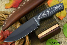 Custom 1095 High Carbon Steel Hunting Knife Handmade, No Damascus (Z407-F)