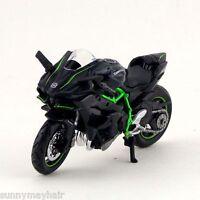 Kawasaki Ninja H2R 1/18 Maisto Diecast Motorbike Black Vehicles Kids Toy Gift