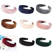 Women Padded Velvet Headband Hoop Multicolor Hairband Hair Accessories Headpiece