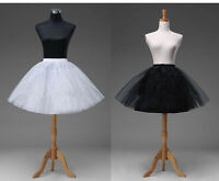 black/Short Petticoat Crinoline Underskirt Tutu Bridal Wedding Dress Skirt Slips