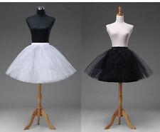 White Short Petticoat Crinoline Underskirt Tutu Bridal Wedding Dress Skirt Slips