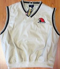 NEW! MIAMI REDHAWKS Mens WINDBREAKER GOLF VEST/JACKET w/ EMBROIDERED LOGO Sz XL