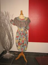 ELEGANTE ROBE FLEURIE FLOWER DRESS MARQUE CHACOK T 38 UK 10