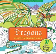 Adult Coloring Books Legendary Dragon Pattern Art Design Painting Relaxing Kids