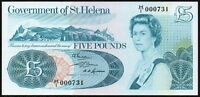 1976 Saint Helena £5 Pound Banknote * H/1 000731 * UNC * P-7a * Low Number *