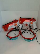 X SHOT Laser 360 Guns Laser Tag 200 Foot Shot 2 Blasters & 2 Goggles Zuru