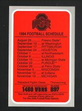 Ohio State Buckeyes--1994 Football Schedule--WBNS/Kroger