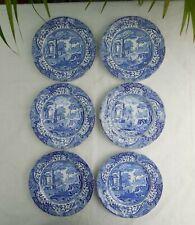 Spode Blue Italian 16cm Side Plates x 6