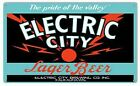 VINTAGE ANTIQUE Style Metal Sign Electric City Beer 18x30
