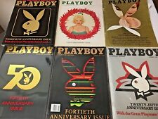 3, 8, 25, 30, 40, 50TH ANNIVERSARY  ISSUES OF  PLAYBOY  MAGAZINES