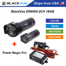 BlackVue 2 Channel DR650S-2CH Full HD WiFi GPS 16GB Dashcam + Power Magic Pro
