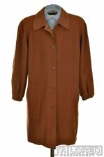BURBERRY Solid Carmel Brown Cotton Blend Womens Overcaot Jacket Coat - IT 42