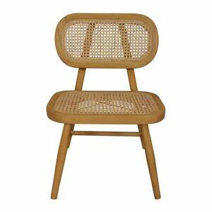 Seabrook Natural Beige Rattan Modern Chair 55x53x79cm By J.Elliot **NEW**