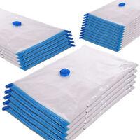 10 Pcs Vacuum Storage Bag Space Saver Travel Foldable Seal Compression Organizer