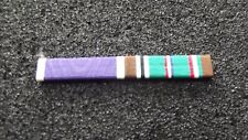 ^ Ordensspange WWII mit 2 Ribbons:  Purple Heart, European-African-Middle Easter