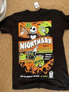 Hot Topic Nightmare before christmas T-shirt Black Size Medium Unisex Halloween