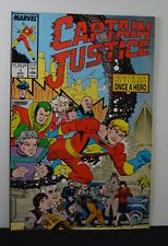 Captain Justice #1 (Marvel, 1988) From the TV series Once a Hero