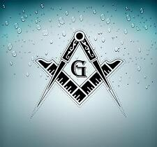 Sticker car moto biker decal bumper flag masonic freemason emblem laptop r2