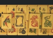 (M) 152 PIece MAH JONG BAKELITE SET Tiles only NMJL READY From 2 Sets