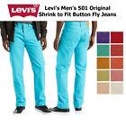Levis Mens 501 Denim Original Shrink to Fit Button Fly Jeans