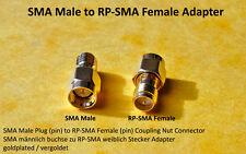 SMA male plug (pin) to RP-SMA female (pin) Jack/dependan Nut adaptador