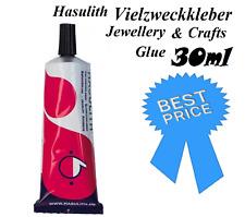 Hasulith Vielzweckkleber Jewellery & Crafts Glue 30ml Adhesive Glue Multipurpose